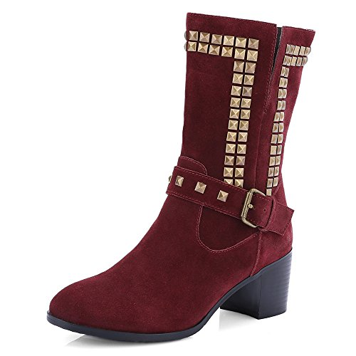 Nine SevenMid-calf-boots - Botas mujer granate