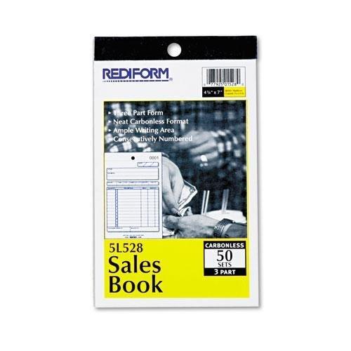 Sales Book, 4 1/4 x 6 3/8, Carbonless Triplicate, 50 Sets/Bo