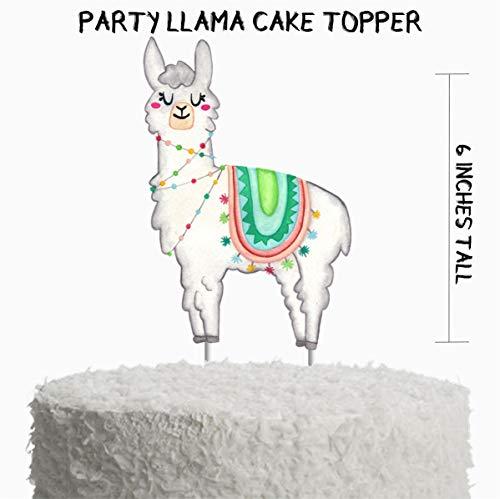 Llama Birthday Party Cake Topper, Llama Birthday Party Supplies, Llama Party Decorations, Fiesta Cake Topper, Fiesta -