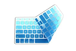 DHZ® Big Font Sky Blue Gradient Keyboard Cover Silicone Skin for MacBook Air 13\