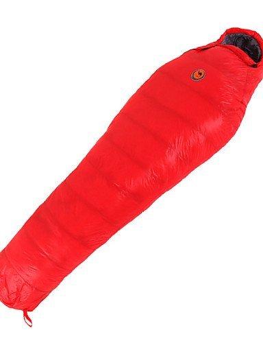 Schlafsack Mumienschlafsack Einzelbett(150 x 200 cm) -10? Enten Qualitätsdaune 1100g 210X80 Reisen warm halten CAMEL