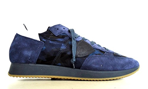 Homme Pour Camouflage Philippe Baskets Blu Model YwUqtn60B