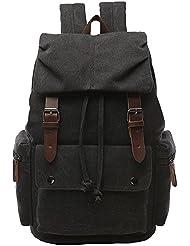 Yousu Vintage Canvas Backpack for School Casual Rucksack Travel Bag for Men