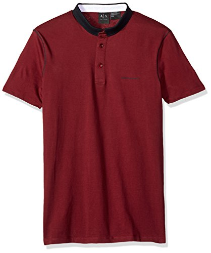 A|X Armani Exchange Men's Short Sleeve Polo Shirt with Solid Collar, Chocolate Truffle, S ()