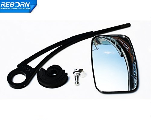 Reborn pro wakeboard tower mirror bracket glossy black