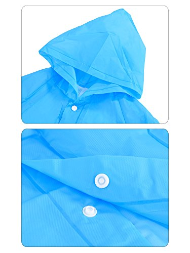 Pangda Reusable Kids Rain Raincoat Poncho Portable with Hoods and Sleeves for Children