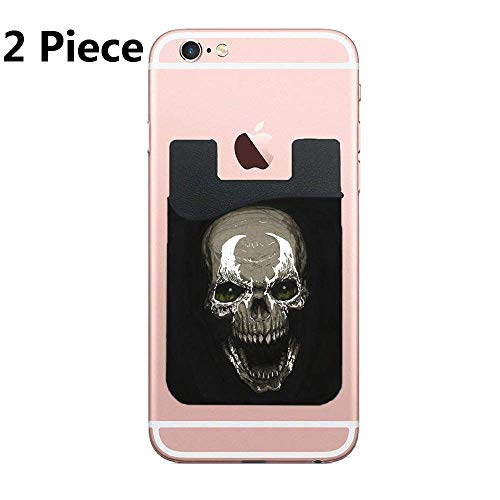 (Spawn Skull Card Secure Holder Stick on PU Wallet Pouch Support iPhone Or Android Smartphones)