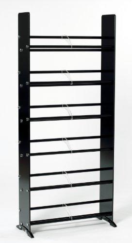 (TransDeco TD319B Glass Multimedia Rack for for 336 CD 234 DVD Black/Chrome)
