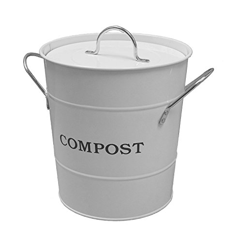 Exaco Trading Company CPBW01 2-In-1 Indoor Compost Bucket, 1 gallon, White by Exaco Trading Company (Image #1)