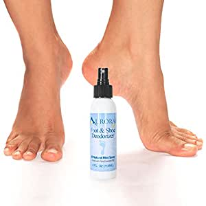 Aurorae All-Natural Deodorizing Shoe & Foot Spray Made with Essential Oils