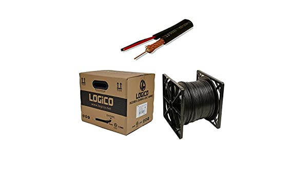 Logico COX5102 304.8m Negro - Cable coaxial (RG59, 304,8 m, Macho, Negro, 75 Ω, Cloruro de polivinilo (PVC)): Amazon.es: Electrónica
