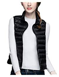 Women Down Vest Lightweight Gilets Classic Comfortable Packable Quilted Vest