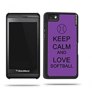 iphone covers Keep Calm And Love Softball Red Wood - Protective Designer BLACK Case - Fits Apple Iphone 6 4.7 / 4G
