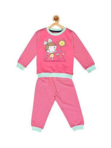 BORNWEAR Girls Cotton Printed Top and Pyjama Set 18-24M(Light Pink)   Amazon.in  Baby 015aba576
