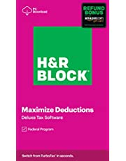 $24 » H&R Block Tax Software Deluxe 2020 with Refund Bonus Offer (Amazon Exclusive) [PC Download]