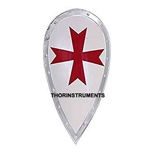 THORINSTRUMENTS (with device) Medieval Knight's Templar Full Size Shield - Armor Renactment Costume