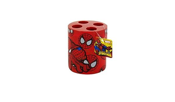Spiderman de Marvel sentido Soporte para cepillo de dientes: Amazon.es: Hogar