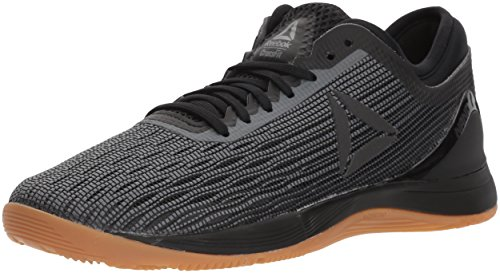 Reebok Women's CROSSFIT Nano 8.0 Flexweave Cross Trainer, Black/Alloy/Gum, 11 M US