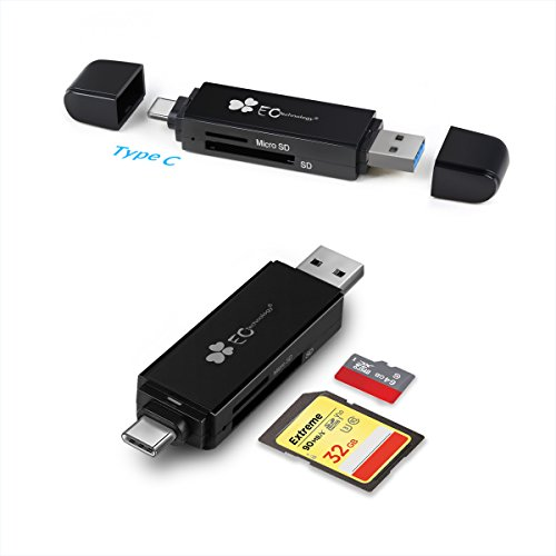 EC Technology TF / SD Card Reader, Vogek Ultra Slim USB 3.0