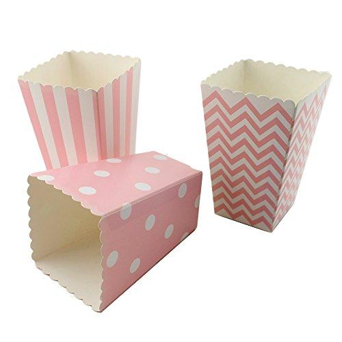 ipalmay, diseño de rayas, diseño de lunares y Chevron papel Mini Cajas de palomitas de maíz (36Pcs, 8colores),...