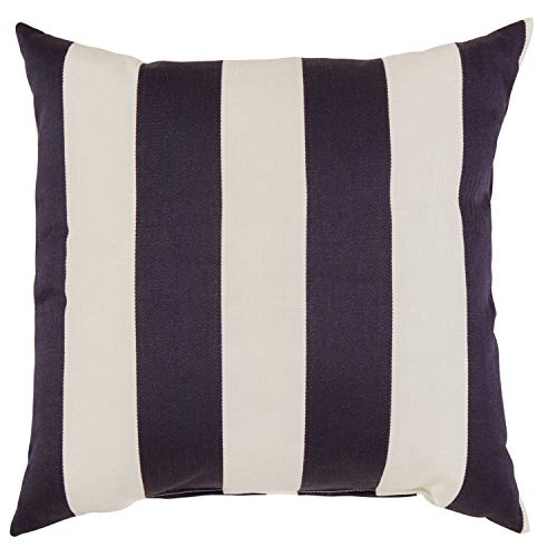 "Stone & Beam Classic Outdoor Throw Pillow, 20"" x 20"", Navy"