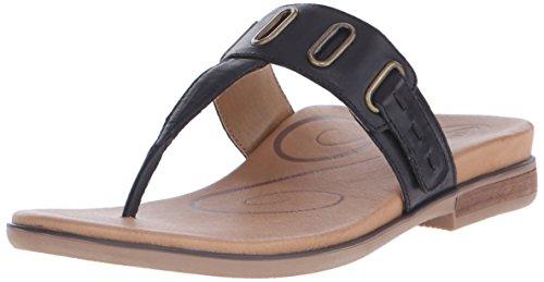 Aetrex Lynco Dress - Aetrex Women's Zara D-Ring Thong, Black, 35 EU/5-5.5 M US