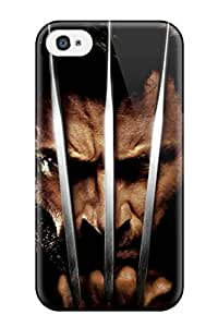 High Grade DavidMBernard Flexible Tpu Case For Iphone 4/4s - Wolverine With His Claw