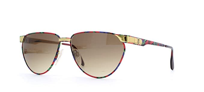 57e31a80d1 Maxims Prestige C Blue Red Square Certified Vintage Sunglasses For Womens:  Amazon.co.uk: Clothing