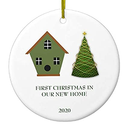New Home Ornament 2020.Amazon Com Lplpol First Christmas In Our New Home Christmas