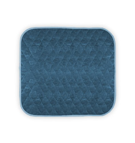 "Americare Absorbent Washable Waterproof Seat Protector Pads 21""x22"" - BLUE (Wheelchair Seat Covers)"