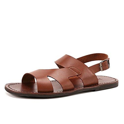 Leather Ruiyue Sandals Casual Quality Sandals Sandals Cheap Genuine Brass Beach Slippers Brand Summer Men aRUnwHqRp