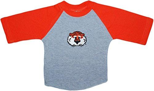 Creative Knitwear Auburn University Aubie The Tiger Newborn Baby Toddler 2-Tone Raglan Baseball Shirt (Toddler Apparel Tigers)