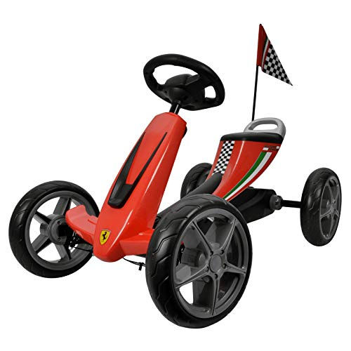 - Galoper Galoper01  Scuderia Ferrari Kids Pedal Go Kart Pedal Powered Ride-On Toys Boys & Girls Racer Pedal Car , Red