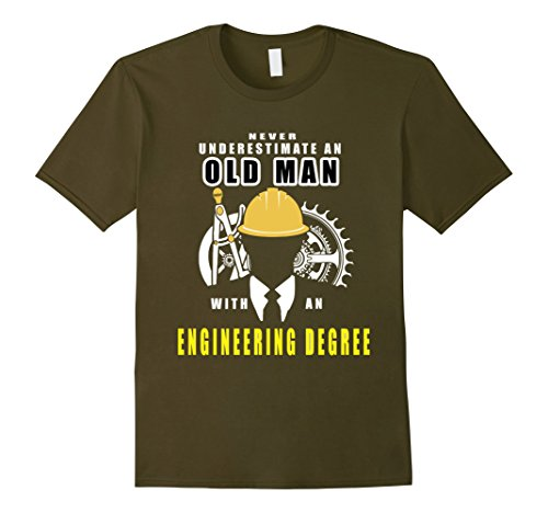 Men's Never Underestimate An Old Man With An Engineering ...