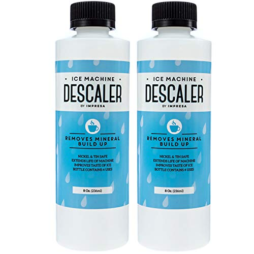 leaner/Descaler - 8 Total Uses (4 Uses Per Bottle) - Made in USA - Works on Scotsman, Manitowoc and Virtually All Other Brands (Ice Maker Cleaner/Icemaker Cleaner) ()