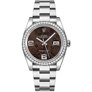 Best Epic Trends 41SDSFKeetL._SS300_ Rolex Datejust 36 Brown Floral Dial Women's Watch 116244