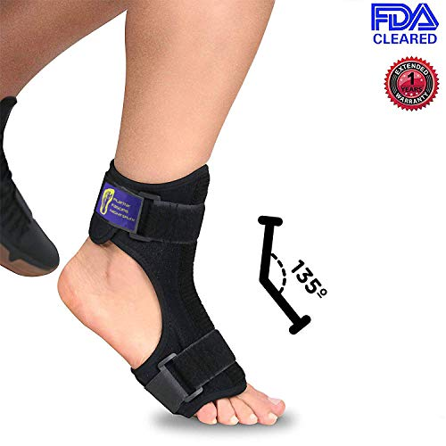 Everyday Medical Plantar Fasciitis Night Splint Brace for Plantar Fasciitis Pain Relief I Dorsal Foot Stretching Support best for Achilles Tendonitis, Heel Pain, Plantar Fascia, Drop Foot -Men & Women