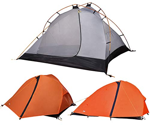 MIER 1-2 Person Backpacking Tent Free-Standing Camping Tent with Footprint, Waterproof Easy Setup, 3 Season