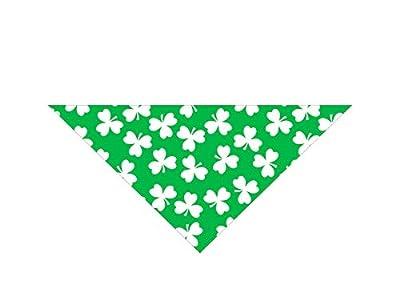 Native Pup St. Patrick's Day Dog Bandanas | 3-Pack Handkerchief| Lucky Shamrock Bandanna|