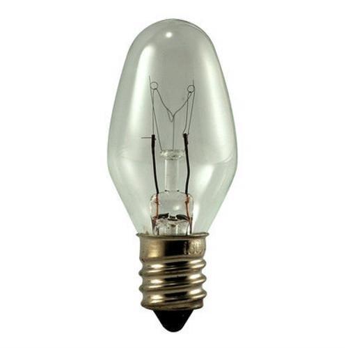 120v C7 Incandescent Candelabra Base (Eiko 10C7/120V-2  10C7/120V, 10W 120V C-7 Candelabra Screw Base Light Bulb  (Pack of 2))