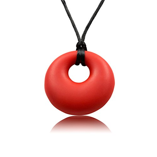 Munchables Sensory Chewelry - Yummy Gummy Chew Necklace (Red) by Munchables