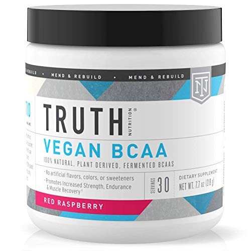 Truth Nutrition Fermented Vegan BCAA Protein Powder - 2:1:1 Powerful All Natural Branch Chain Amino Acids – Pure BCAAS Promote Enhanced Muscular Endurance, Energy, Stamina & Recovery – 30 Day Supp