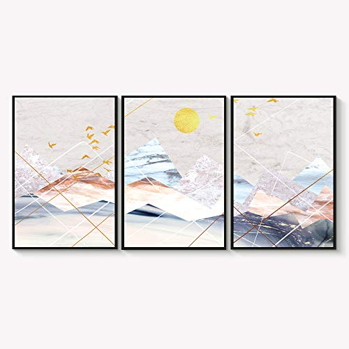 Framed for Living Room Bedroom Abstract Landscape Dream Place for x3 Panels