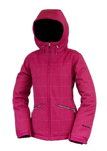 Betty Rides Women's Window Pane Ll Nicole Parka Snowboard/Ski Jacket (Raspberry, Small)