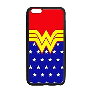 Wonder Woman Logo Symbol Case Custom Durable Hard Cover Case for iPhone 6 - 4.7 inches case - Black Case by runtopwell