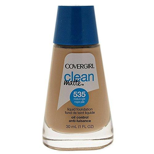 (CoverGirl Clean Oil Control Liquid Makeup, Medium Light [535], 1 oz (Pack of 2))