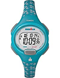 Timex Women's TW5M07200GP Ironman 10-Lap Mid Size Blue Dial Wrist Watch