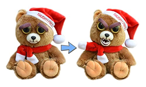 Price comparison product image William Mark Feisty Pet Santa Bear: Ebeneezer Claws Stuffed Attitude Plush Animal