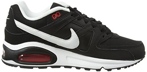 Nike Air Max Comm Leather, Scarpe Sportive Outdoor Uomo Nero (Black/White/Action Red)