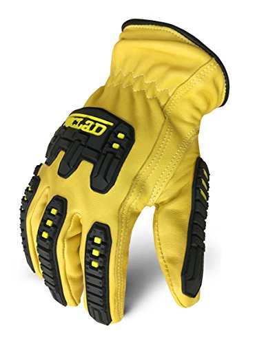 Ironclad ILD-IMPC5-04-L Ultimate 360 Cut Leather Driver W/Impact Work Gloves, Large